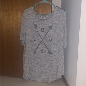 """Old Navy """"love and arrow"""" t shirt"""